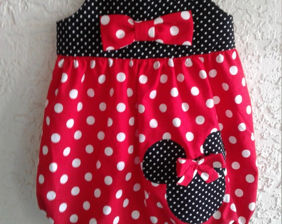 Minnie Romper, Bubble Romper, First Disney Vacation, First Birthday Romper, Classic Minnie, Toddler Bubble Romper, Free Shipping