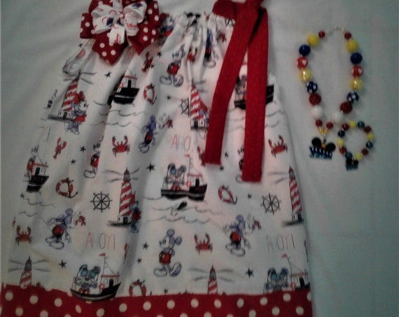 Disney Cruise line Dress, Classic Mickey, Disney Vacation, Disney Parks, Baby Dress, Toddler  Dress