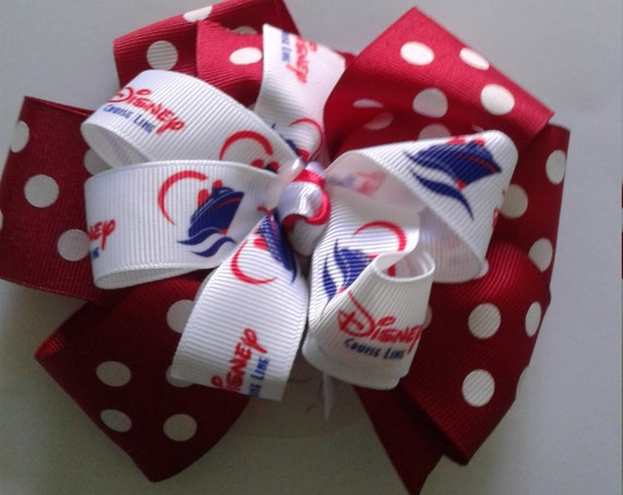 Disney Cruise Bow, Party Bow,Disney Vacation, Disney Parks, Birthday Bow