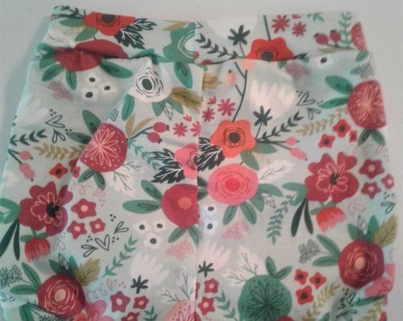 Floral Bummies, Cotton knit Shorties, Baby Bummies, Toddler Bummies, Summer Shorts, Beach Shorts
