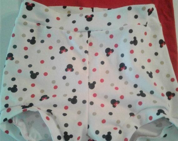 Disney Bummies, Mickey Bummies, Cotton knit Shorties, Baby Bummies, Toddler Bummies, Summer Shorts, Beach Shorts