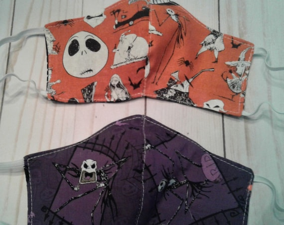 Jack Skellington Face Mask,Cloth face  mask' Childs 3-6yrs, 7-12 yrs, Ladies,Mens,  Free shipping