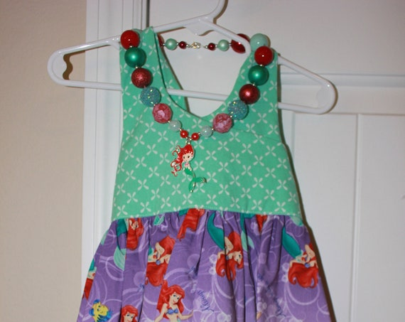 Disney Little Mermaid Dress, Ariel Dress, Disney Parks, Disney Vacation, Baby Dress, Toddler dress. Princess Birthday