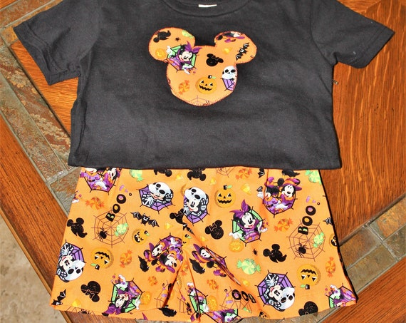 Disney Halloween Outfit, Unisex Shorts set, Not So Scary Party Outfit, Infants Outfit, Toddler Outfit, Disney Vacation, Disney Parks,