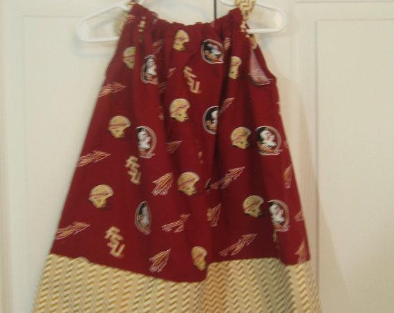 Florida State Seminoles Dress, Girls FSU Dress,Spirit Dress, Handmade Dress, FSU Team Baby  Dress