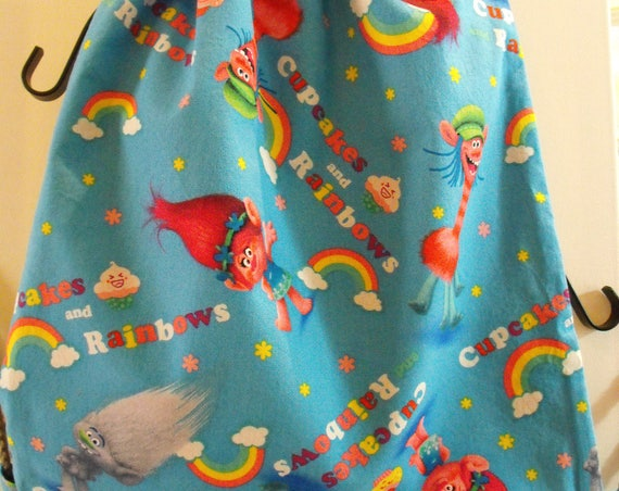 Cartoons Kids drawstring backpack, Trolls,Disney Cars,Disney Frozen, Pokemon,Shopkins, Marvel , Camp Packpacks, Birthday Present