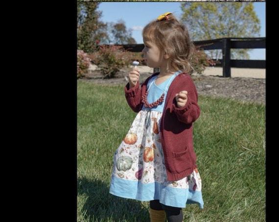 Fall Holiday Dress, Thanksgiving dress, Handmade