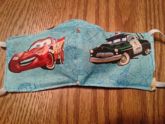 "Disney Face Masks,Handmade fabric face mask,Cars face mask, Disney Inspiren face masks, Children""s mask"