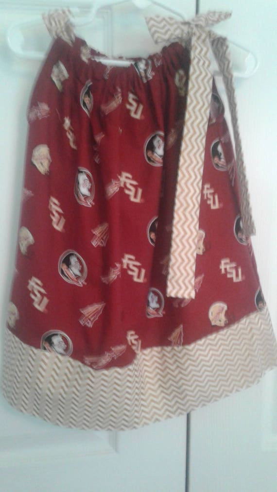 Florida State Seminoles Dress, Girls FSU Dress,Spirit Dress, Handmade Dress, FSU Team Baby  Dress