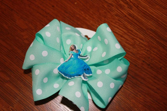 Cinderella Bow,Handmade Bow,Disney Cinderella Bow, Baby Bow, Toddler Bow, Birthday Bow,Party Favor, Disney Hair accessory