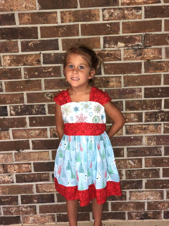 Christmas Dress, Girls Christmas outfit, Girls Holiday Dress,  Toddler Christmas Dress, Holiday Party Dress, Boutique Christmas,