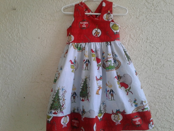 Grinch Dress size 4, Christmas Dress, Toddler Dress, Santa Photo, Ready to ship