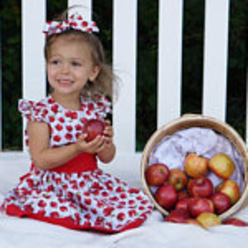Back to School dress Girls Apple Dress Fall Dress