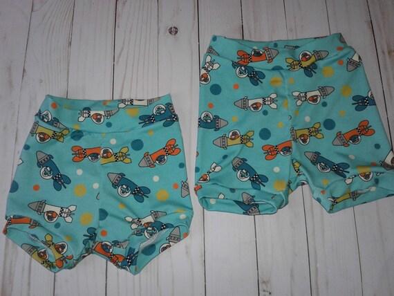 Rocket Bummies, Gender Neutral Bummie shorts