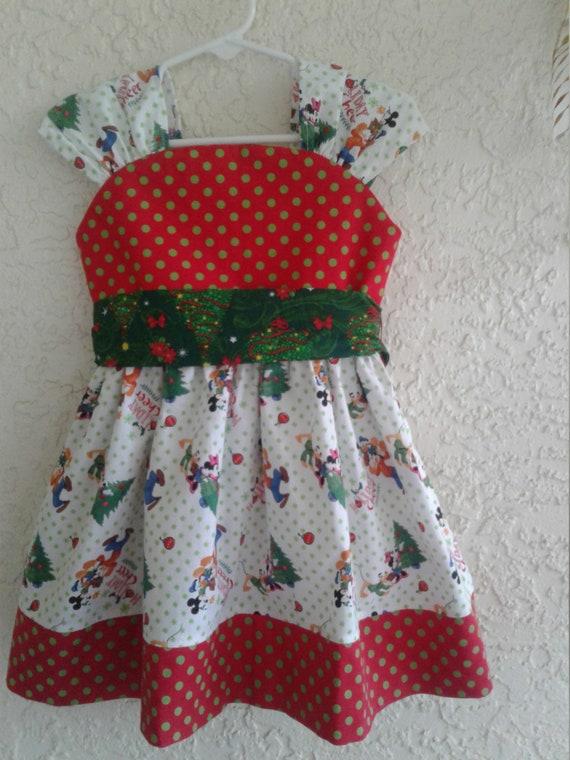 Disney Christmas Dress, Mickey Minnie Christmas, Party Dress