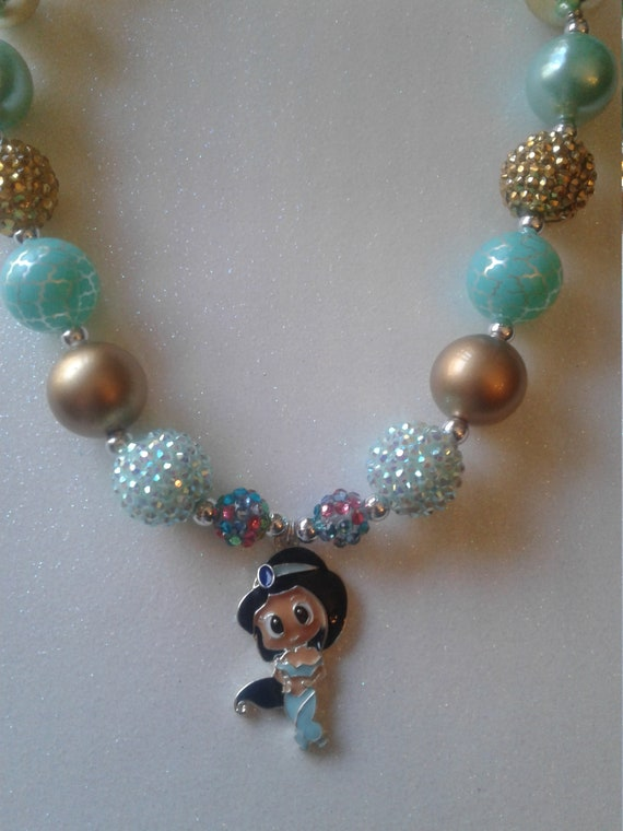 Princess Jasmine necklace, Disney inspired, Aladdin inspired, Disney Jewelry, Toddler Jewelry, Bubblegum necklace