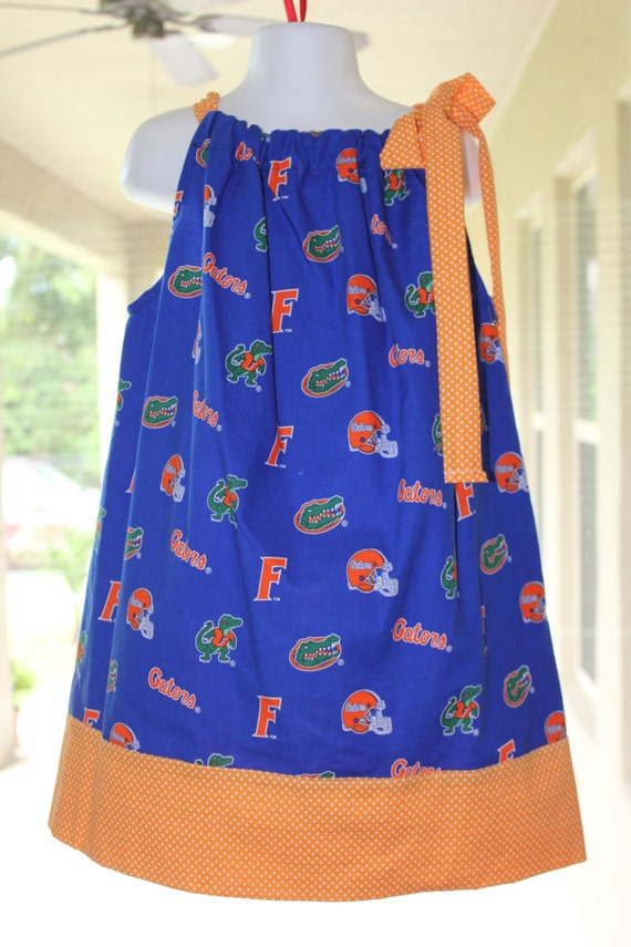 Gators Dress, Girls Dress, Game Day Dress, Team Spirit Dress,Infant dress, Toddler Dress, Florida University Dress