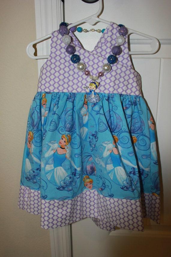 Cinderella Princess Dress, Disney Princess Dress. Handmade Dress, Cinderella Birthday Dress,FREE SHIPPING