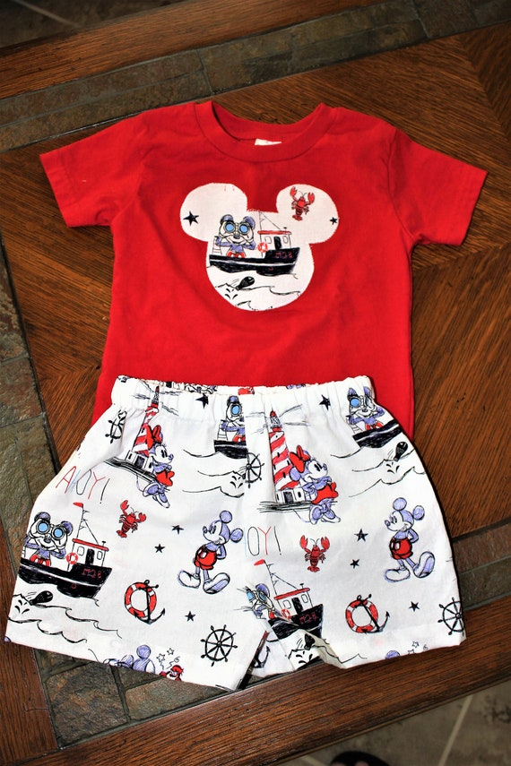 Disney Cruise Line, Unisex Shorts set, Infants Outfit, Toddler Outfit, Disney Vacation, Disney Parks,