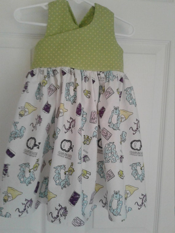 Monsters inc Dress, Disney Mike and Sully Dress,Girls Disney dress, Birthday dress,Disney Vacation,Disney Parks