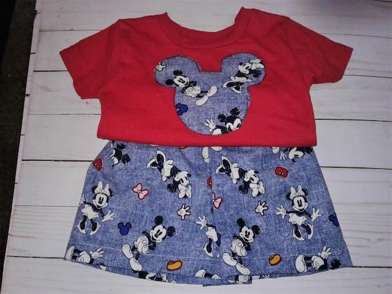 Disney Shorts Set, Gender Neutral, Handmade, Mickey, Minnie