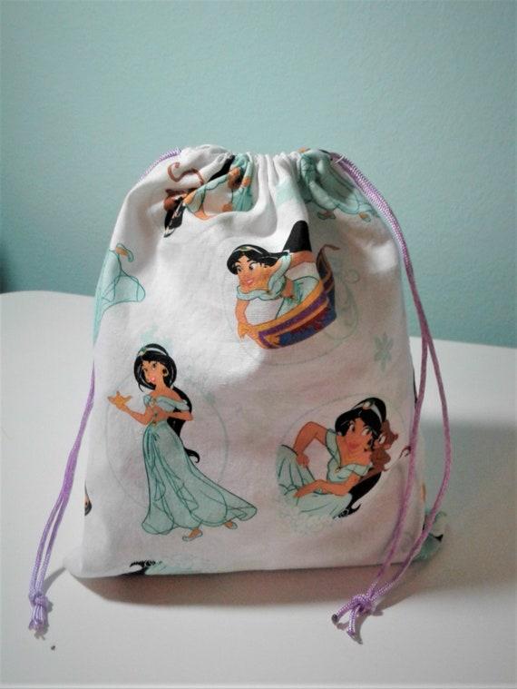 6 Jasmine gift bags,Disney Aladdin bags ,Birthday Bags, Treat Bags, Candy Bags, Goody bags, 9x7 bags