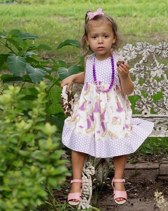 Rapunzel Dress, Princess Rapunzel  Dress, Toddler Princess,  Princess Birthday Party