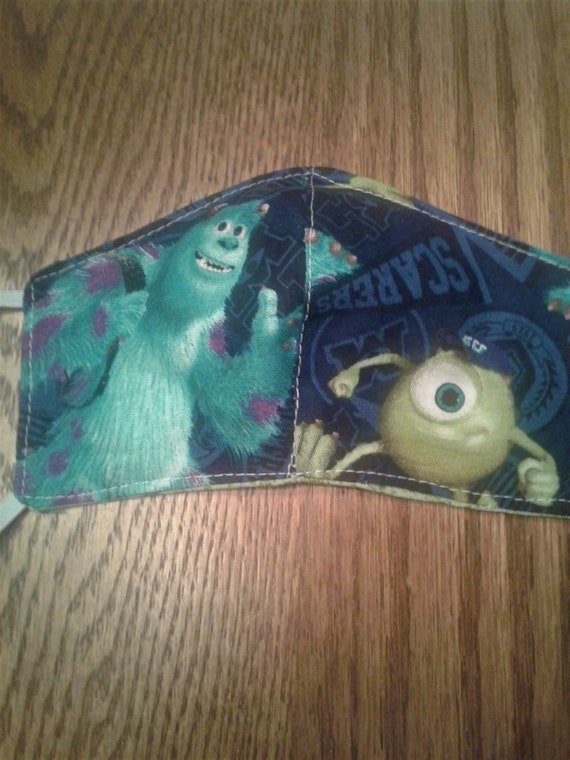 Face Masks,Monsters Inc,Handmade fabric face mask, Disney Inspired Face mask, Women's face mask, Childrens face mask