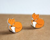 Fox Earrings - Orange Fox Jewellery