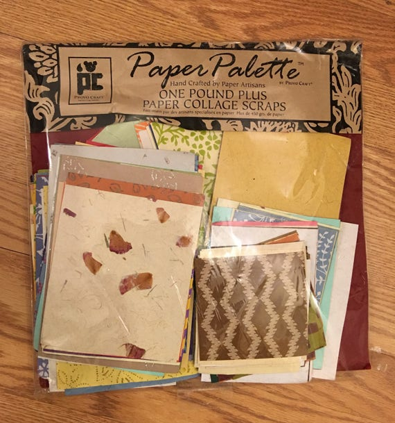 Prov Craft Paper Palette Hand Crafted Artisans Collage Scraps Etsy