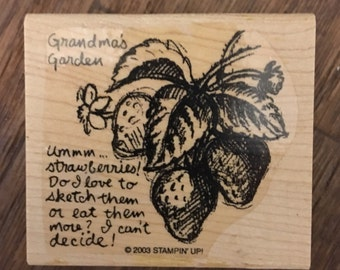 Stampin' Up Wood Mounted Rubber Stamp