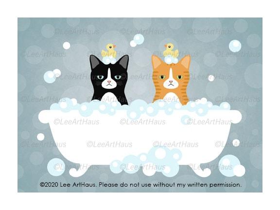 Grey cat with bells full Funny cat Cat decor Cat lady gift ideas Cat mommy Cat poster art Posh cat Cat gift items Cat wall art canvas