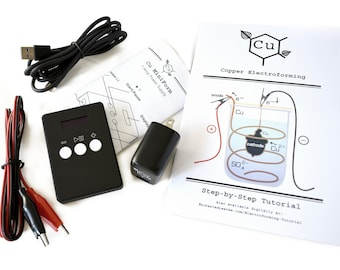 Cu MiniForm Power Supply for Electroforming   Small Jewelry Rectifier   Learn How to Electroform Jewelry   Electroformer Guide