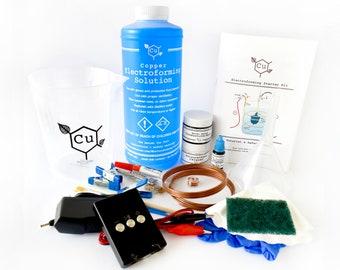 Electroforming Kit   Learn How to Electroform Copper   Electroforming Tutorial   Make Electroformed Jewelry   Electroforming Starter Kit