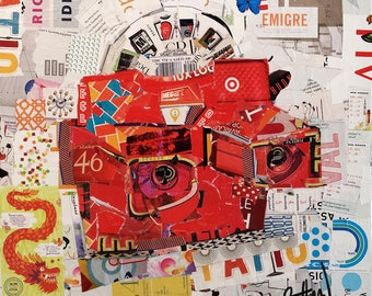 """Original Collage Print on Archival Paper  - """"View Master #1"""" - Multiple Sizes Available"""
