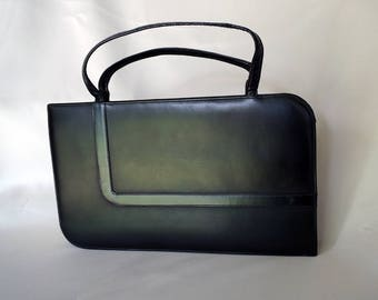 LENNOX BAGS Black Vintage Slender Rectangular Purse