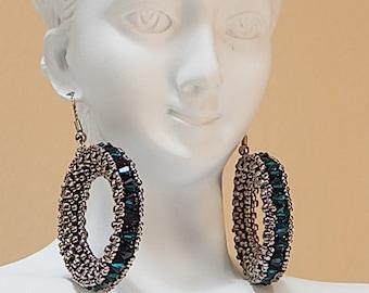 Crystal Loop Earrings Instructions