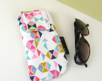 Glasses case, Protective case for glasses or phone, Protective phone case with magnetic fastening, Colourful unique case