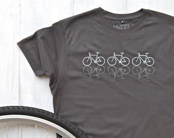 Reflective Cycles T-shirt - bike shirt - cycling t-shirt - bicycle print shirt - gifts for him - graphic tees - dad gift - Christmas Gift