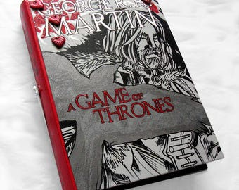 Game of Thrones- hideaway book box, The Heart Tree.  Crow, hidden book box.  Secret drawer.