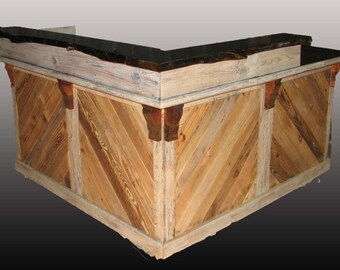 Barn Wood Live edge sales counter