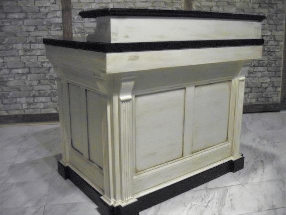 Medium reception desk French Antique Repro. - Medium Reception Desk French Antique Repro. Etsy