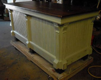 Antique wood store counter -kitchen island