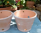 Whitewashed TerraCotta Orchid Planter Pot with Holes for Orchid Root Air Circulation Handmade Gift for Orchid Collector Aged Planter Pottery