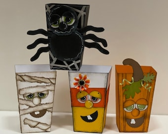 Halloween Treat Boxes, Halloween Party Favors, Treat Boxes, Treat Box, Fall Treat Boxes, Halloween Party Favor, Halloween Decor, Halloween