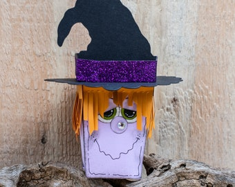 Halloween Treat Boxes - Halloween Favor Boxes - Halloween Party Decor - Party Favors- Trick or Treat - Witch treat box - Treat Bag - favor