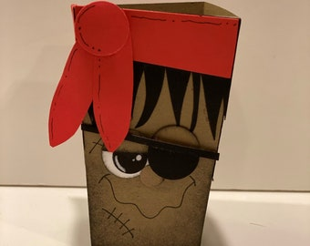 Halloween Treat Boxes - Halloween Favor Boxes - Halloween Party Decor - Party Favors - Pirate treat box - Treat Bag - favor - Treat Box