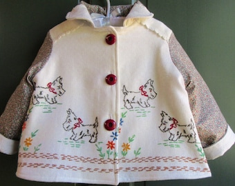 Size 2 Scotty Dog Jacket Vintage Embroidery