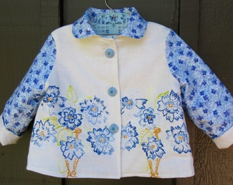 Size 2 Baby Girl Vintage Embroidered Jacket