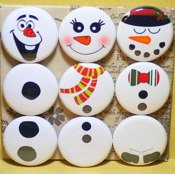 Bonhommes de neige aimants un pouce